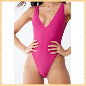 New Forever21 One Piece Swimsuit Magenta
